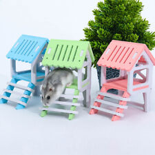 FM_ HB- Pet Chinchilla Hamster Chewing Toy Wooden House Attic Small Animal Play