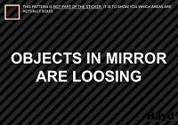 (2x) Objects In Mirror Are Loosing Sticker Decal Die Cut vinyl jdm