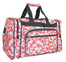e6ce663b8415 Damask Large Duffle Bag Duffel Carry On Luggage Gym Sports Travel 22-inch  Pink