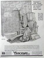 PUBLICITÉ DE PRESSE 1924 TEKKO 8000 MODÈLES DE PAPIER PEINT ET ÉTOFFES