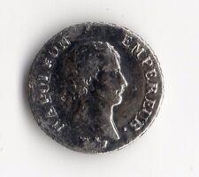 TOP RARE MONNAIE D'UN QUART DE FRANC ARGENT DE NAPOLEON EMPEREUR 1807 I LIMOGES