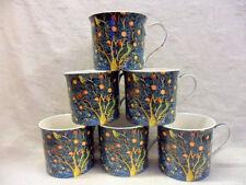 Set of 6 William Morris birds china palace mugs