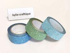 Glitter Tapes b 1.5cm X 5m  x 3 rolls DIY Scrapbook Album Diary- d