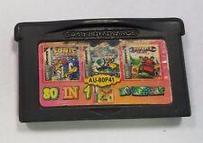 Sonic Nintendo Gameboy Advance 80in1 Cartridge Only AU-80P41 Super Mario World