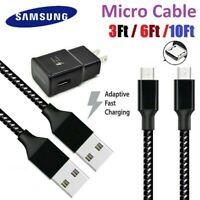 3/6/10Ft Fast Charger Micro USB Data Sync Cable Cord For Samsung HTC Android LG
