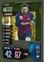 MATCH ATTAX 2019/20 LIONEL MESSI GOLD LIMITED EDITION LE5G