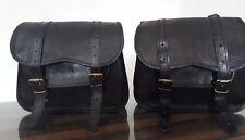 schwarz Leder Motorrad Seitentasche  Seitentasche Satteltaschen Panniers S Jasol