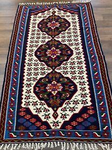 Vintage Handmade Colorful Turkish Kilim Accent Rug, Charming Floral Design, 4x6