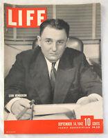 1942 Life Magazine Leon Henderson WW2 September 14 Vintage 1940's