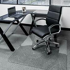 New listing 45� x 53� Glass Chair Mat with Exclusive Beveled Edge by Clearly Innovative, 1/4