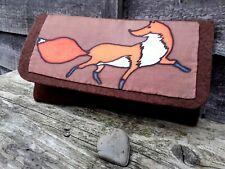 Handpainted Silk Felt Envelope Clutch Evening Bag Purse Gustav Klimt Style Fox