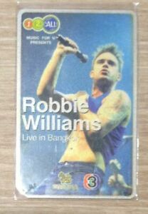 Robbie Williams Live in Bangkok 2001 Thailand Tour Concert Ticket Card Take That