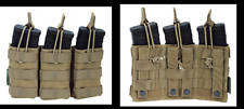 WARRIOR ASSAULT SYSTEM ELITE OPS TASCA TRIPLE OPEN MAG POUCH COYOTE M4/AR15