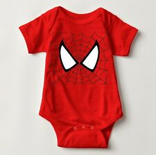 Spiderman Costume Personalized Baby One Piece with Back Name Print