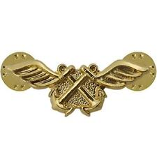 USN NAVY COLLAR DEVICE GOLD AVIATION BOATSWAIN (AB)   NEW (Made in USA)