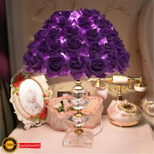 New Purple Rose LED Table Lamp Crystal Desk light Reading lamp bedroom Lighting