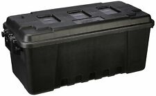 Plastic Utility Tote 68qt Storage Container Lockable Crate Tub Black Tool Box
