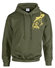CARP FISHING CLOTHING, HOODY. MIRROR CARP, 3 COLOURS, SIZE S - 3XL.