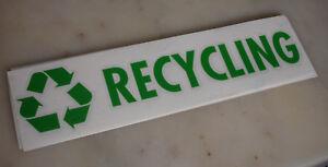 Green Recycling Vinyl Sticker / Decal - (Green) (215 x 50mm)