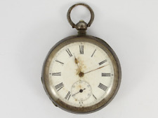 Face Case Spares or Repair Ju98 Antique Pocket Watch 935 Silver Open