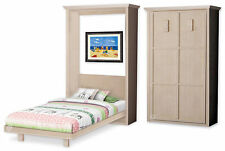 Economy Kid's Murphy Twin Vertical Wall Bed Woodworking Plans, 1TVWB