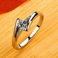 925 Silber Plattiert Ring Damenringe Verlobungsringe Ehering Schmuck