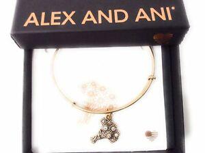 Alex and Ani I Pick You Bangle Bracelet Rafaelian Gold New With Tag Box Card