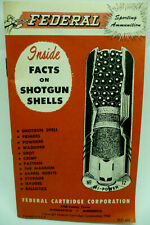 Vintage Hunting, 1962 Federal Cartridge Catalog/Booklet, Facts in Shotgun Shells