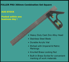 Fuller PRO 300mm Combination Set Square Etch Imperial Metric S/steel Blade Cast
