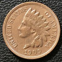 1909 Indian Head Cent 1c One Penny High Grade #16039
