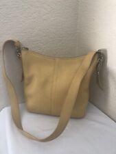 Vintage Coach Legacy Yellow Leather Duffle Shoulder Crossbody Hobo Handbag 9326