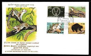 Centenary of Wild Life & Nature Protection Society of Sri Lanka 1994 FDC