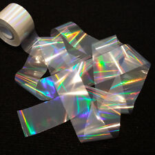 CLEAR RAINBOW Holographic Nail Art Foil Decoration Wrap Transfer Sticker