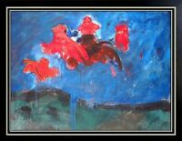 ROBERT BEAUCHAMP Original Oil PAINTING on BOARD Signed Artwork Abstract LARGE