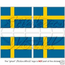 "SWEDEN Swedish Flag 50mm (2"") Bumper-Helmet Stickers Decals x4"