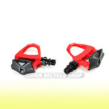 EXUSTAR Aluminum Body Road Pedals E-PR201 ,Come With Cleat Set , Red