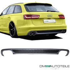 Heckdiffusor Grau Duplex passend für Audi A6 C7 4G Modelle auf S-Line 4-Rohr