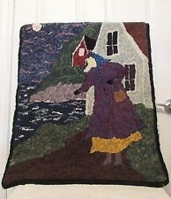 "HOOKED RUG BY ELAINE MCLAUGHLIN / DEANNE FITZPATRICK ""GETTING OUT"""
