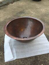 """Linkasink 16"""" Antique Hammered Copper Round Sink - Unused"""