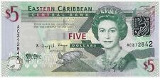 East Caribbean States 5 Dollars 2008 ND Issue Pick #47a Foreign World Banknote