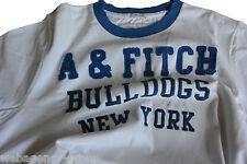 T-Shirt Abercormbie & Fitch - mis. XL - col. Bianco logo A&F Blu