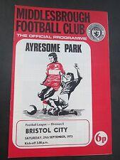 Middlesbrough V  Bristol City   1973/4