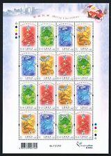 China Hong Kong 2002 Mini S/S Christmas stamp