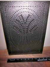 (1) one  Pewter Wheat Stalks Punched Tin Panel Pie Safe Bread Box Cabinet