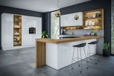 Jayline by BA White Gloss Handle-less J-Profile Kitchen Doors and accessories