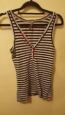 Stussy Top Size S STRIPED BUTTON FRONT SINGLET TOP