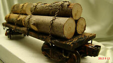 Logging Car on Lionel Frame- custom built, weathered, painted - lot 1- O scale