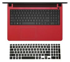 Shimmery Red Wrist Palmrest Skin + Keyboard Protector for Dell Inspiron 15-7000