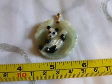 Carved Jade pendant with MOP and Onyx Panda 14ct Gems of the Orient QVC