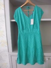 PEPPERBERRY GREEN TEXTURED TIE BACK DRESS - SIZE 10 REALLY / SUPER CURVY - BNWT